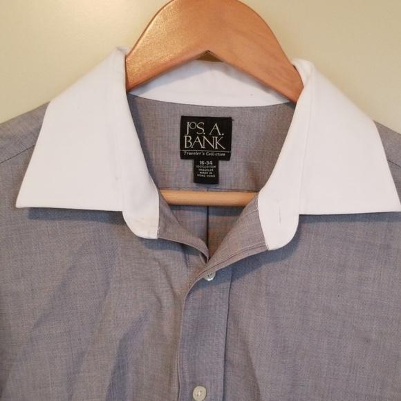 Jos. A. Bank Other - Men's Jos.A.Bank white collar grey dress shirt